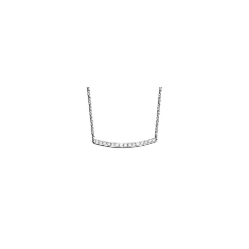 Sleek Diamond Bar Necklace