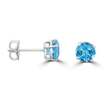 5 MM Blue Topaz Stud Earrings