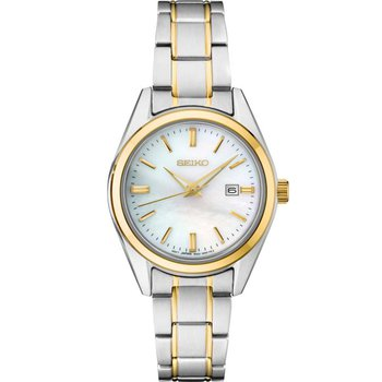 Ladies Yellow and White Stainless Steel Seiko Quartz Watch
