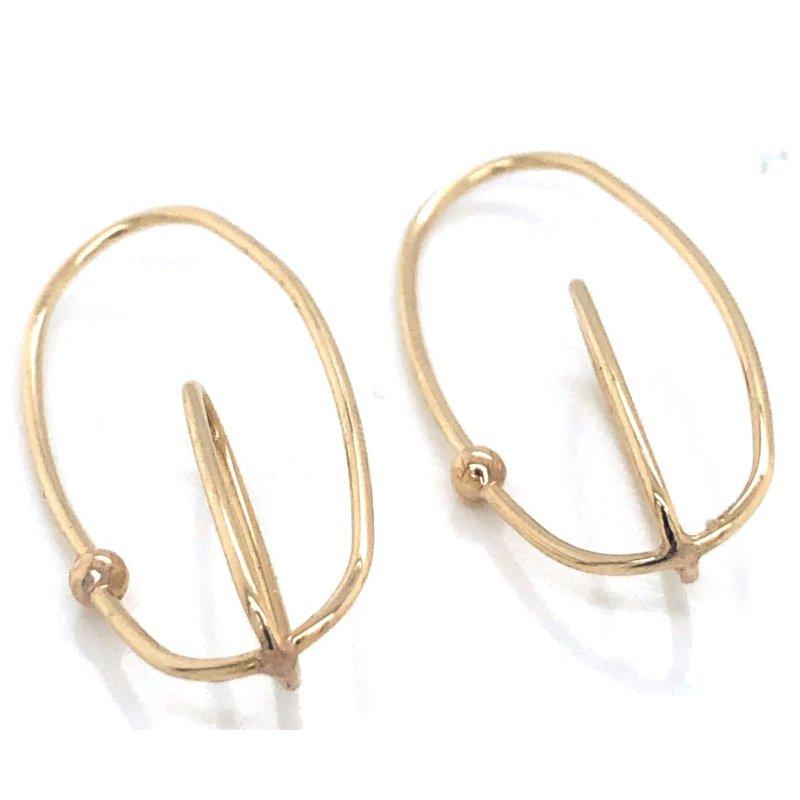 14 Karat Gold Loop Earrings