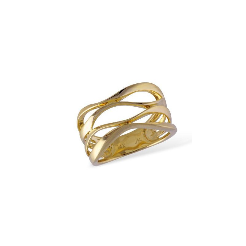 Yellow 14 Karat Free Form Band Ring
