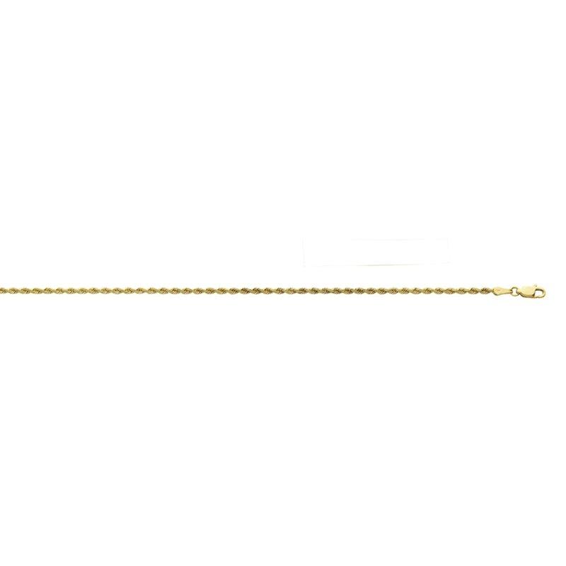 Yellow 14 Karat Rope Necklace