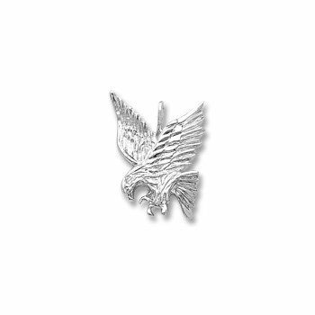 White Sterling Silver Eagle Charm