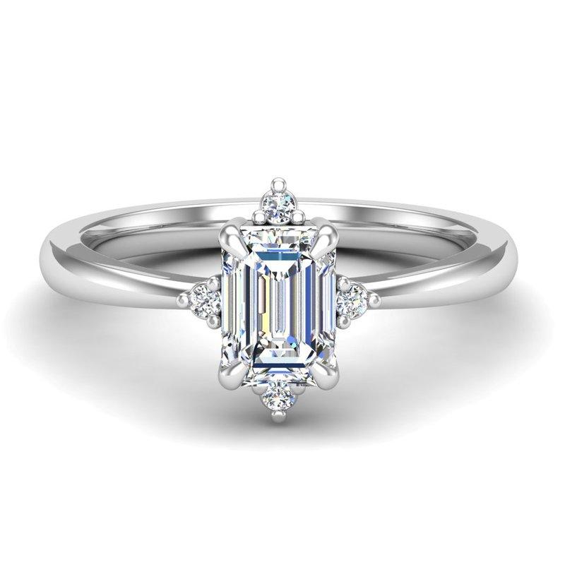 14 Karat Unique Halo Ring Mounting of Round  Diamonds