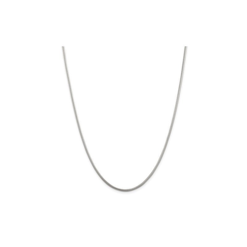 Sterling Silver 1.6mm round snake chain