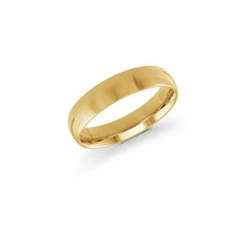 Yellow 14 Karat 5 Mm Band Size 10