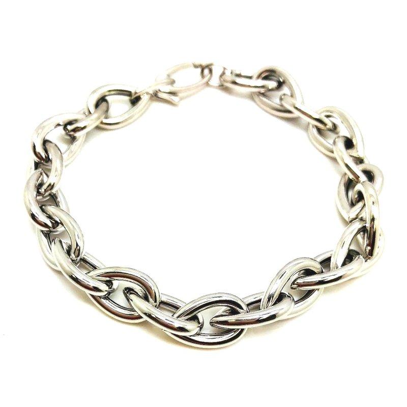 Unique Sterling Silver Pear Link Bracelet
