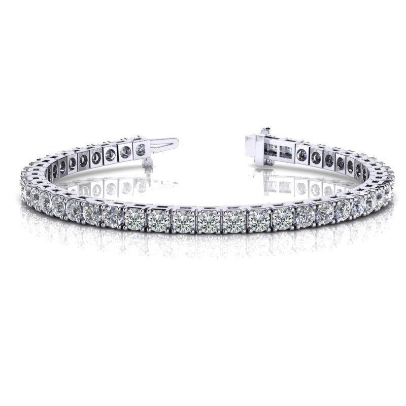 Desirable Tennis Bracelet With 4.56 cttw Diamonds