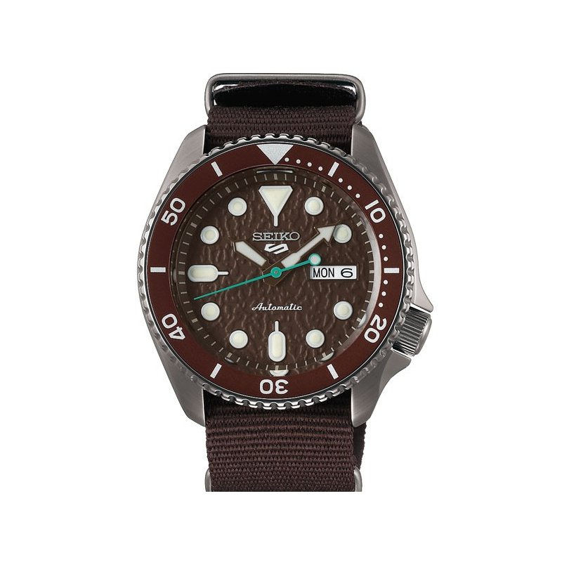 Brown Stainless Steel Seiko Automatic Watch