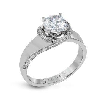 14 Karat Swirl  Diamond semi-mounting