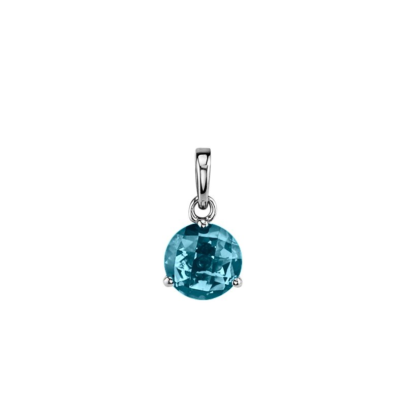 London Blue Topaz Solitaire Pendant (Chain not included)