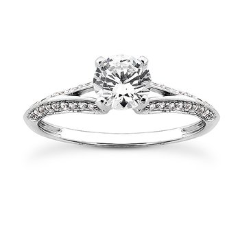 Petite Diamond Set Split Shank Engagement Ring Mounting