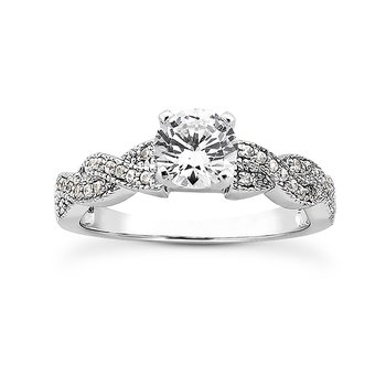 White 14 Karat Ring With 32 Round Diamonds=0.24Tw  G/H Si
