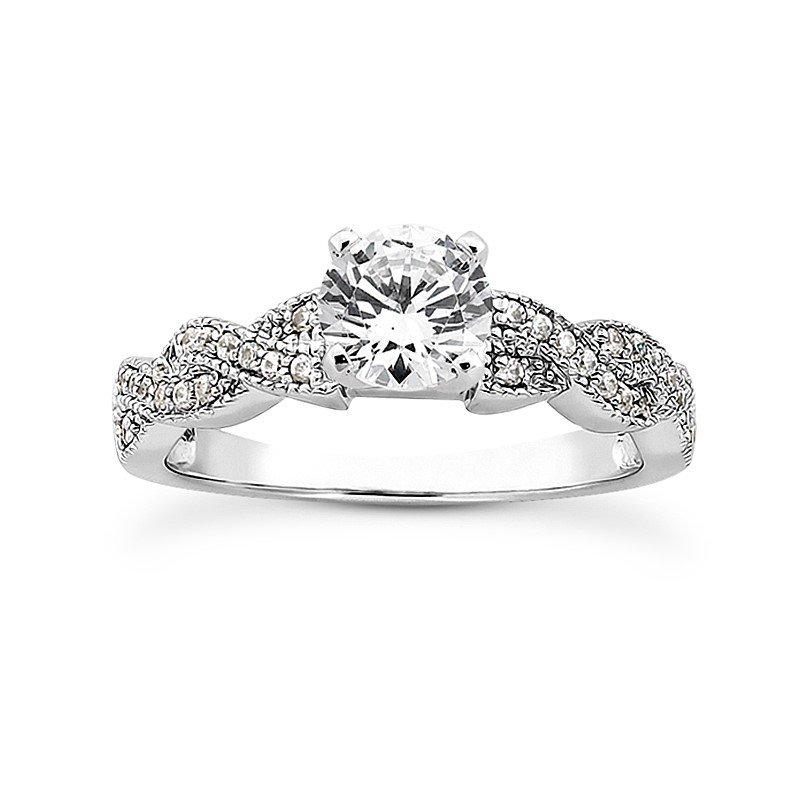 White 14 Karat Ring With 32 Round Diamonds=0.24Tw  G/H Si