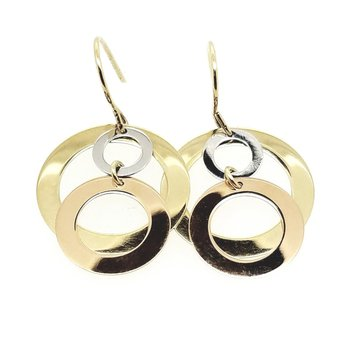 Tricolor 14 Karat Earrings