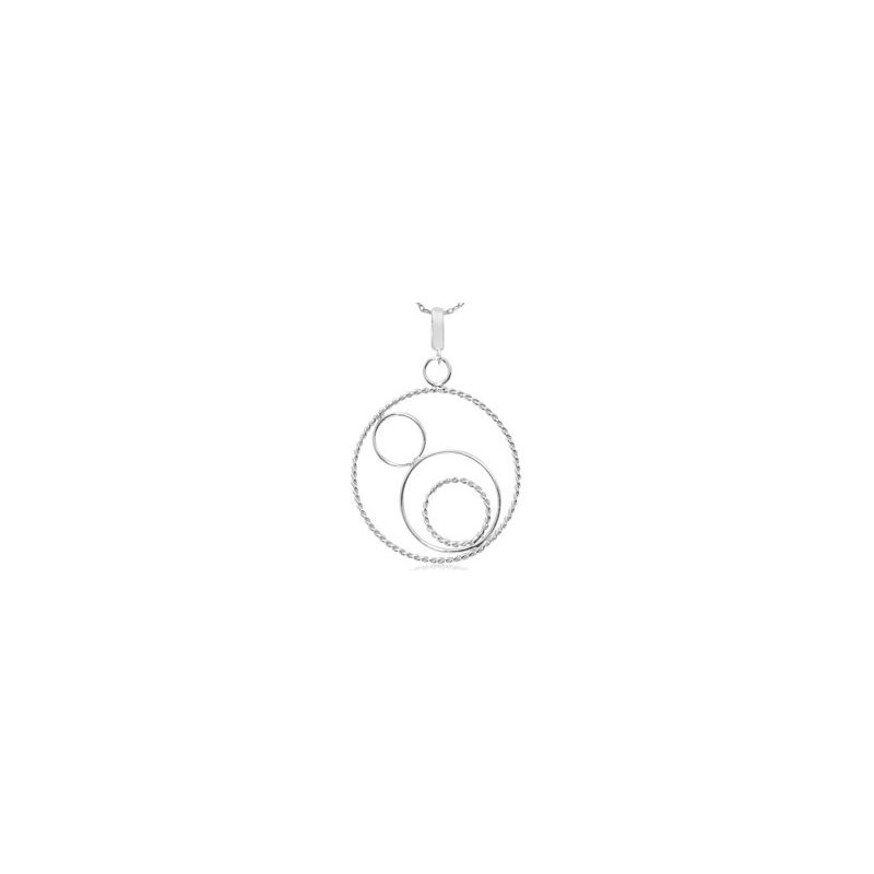 Sterling Silver Twisted Circles Pendant