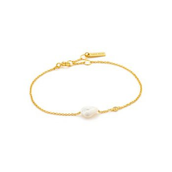 Yellow Sterling Silver Pearl Of Wisdom Bracelet