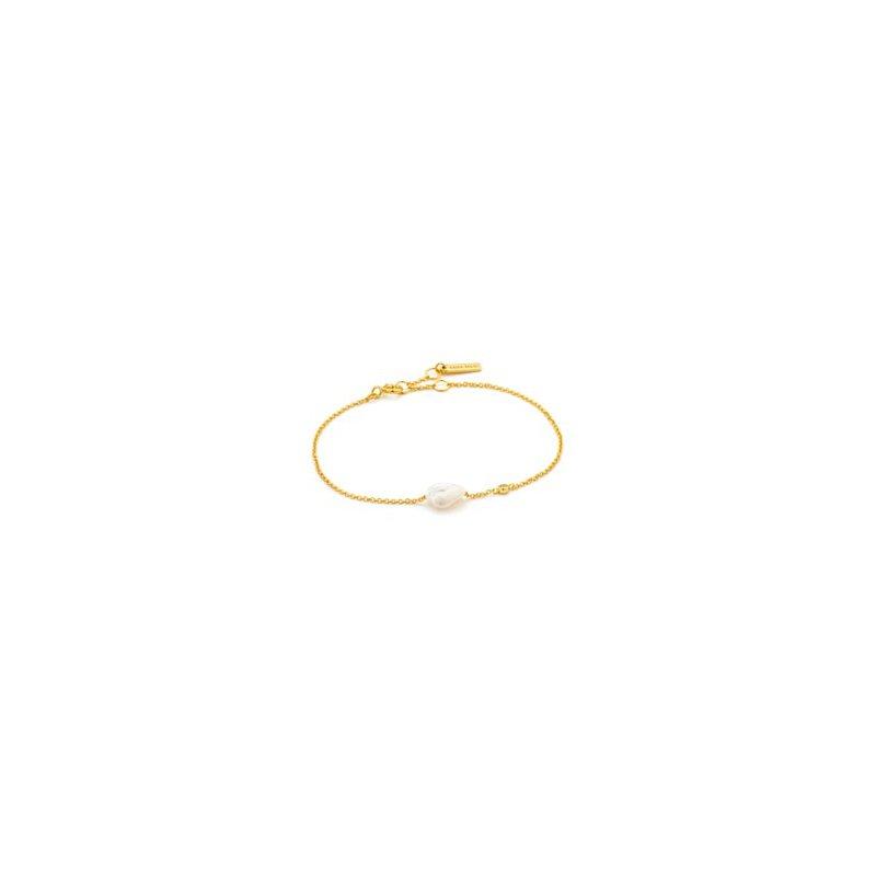 Yellow Sterling Silver Pearl Of Wisdom Bracelet