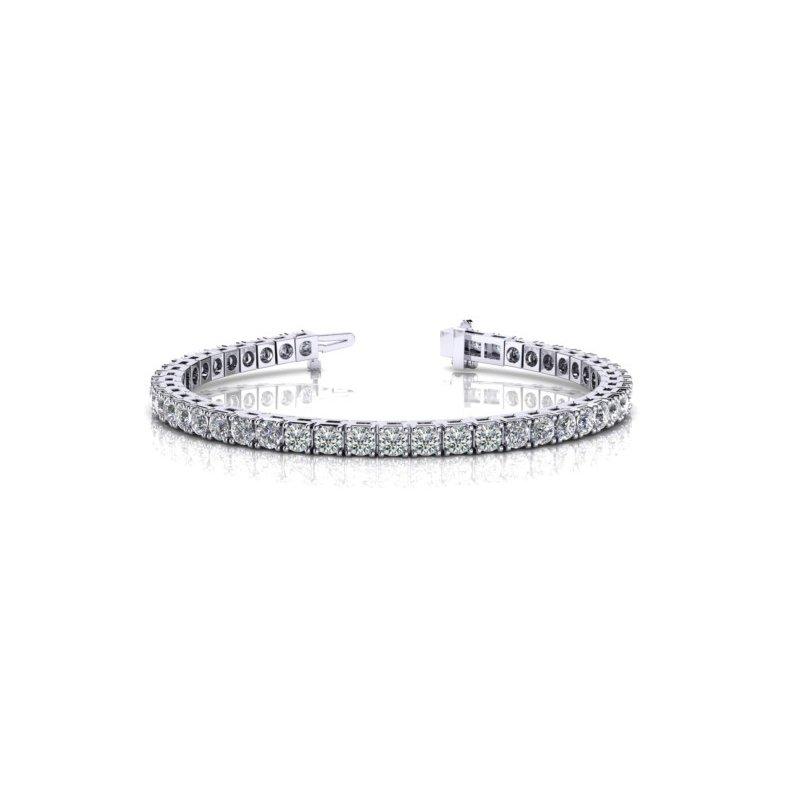 Lovely 4.54 carat White Gold Diamond Bracelet