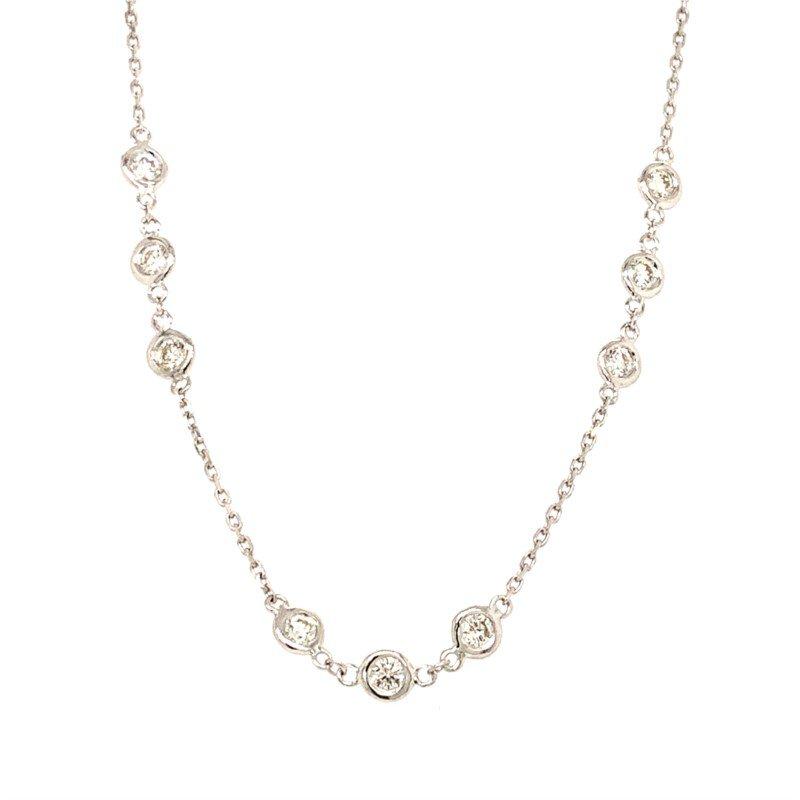 "14 Karat White Gold ""Diamond by the Yard"" Pendant"