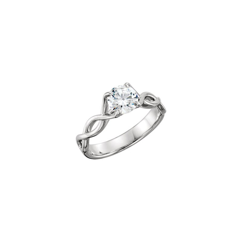 14kt White Gold  'Infinity' Mounting
