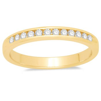 Yellow Gold Channel set 1/10ctw Band