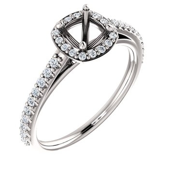 White 14 Karat Ring With 40=1/3 ctw Round Diamonds
