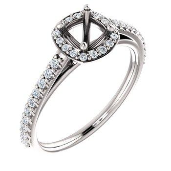 White 14 Karat Ring With 40=1/3 ctw Round Diamonds