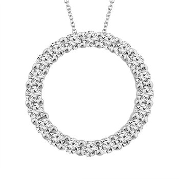 "10 Karat White Gold ""Eternity"" Diamond Pendant"