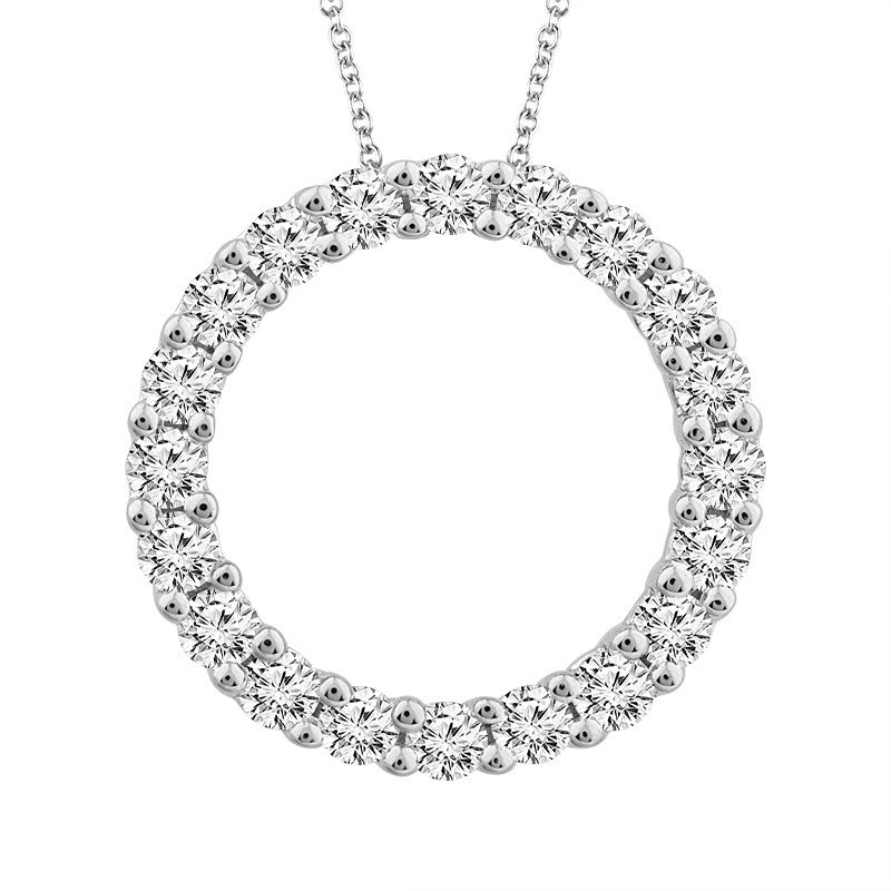"10 Karat White Gold ""Eternity"" Diamond Pendant"