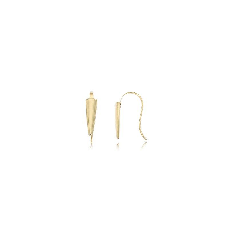 14 Karat Yellow Gold Arrow Head Drop Earrings