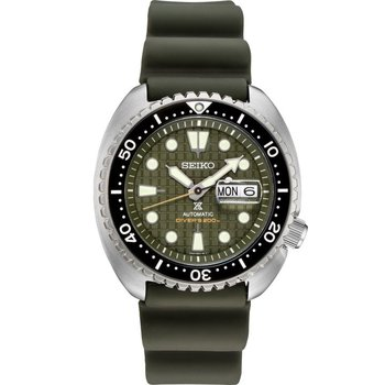 Olive Green Stainless Steel Seiko Automatic Watch