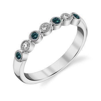14 Karat White Gold Alexandrite and Diamond Ring
