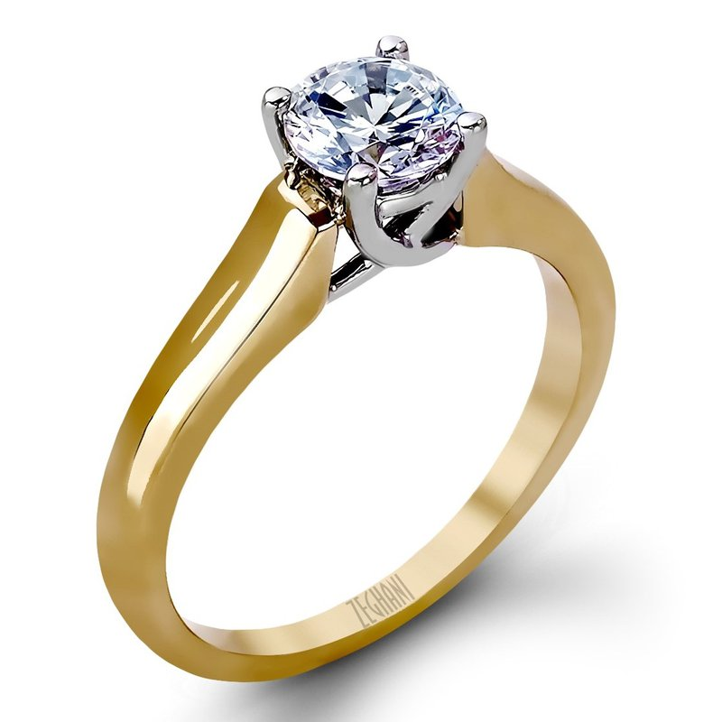 14kt White and Yellow Gold Trellis Design Ring
