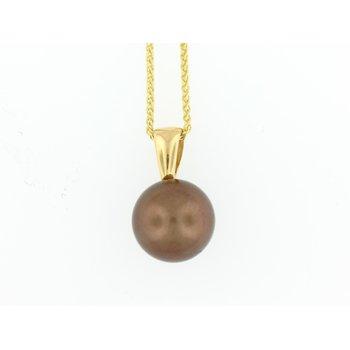 14 Karat Chocolate Tahitian Pearl Pendant