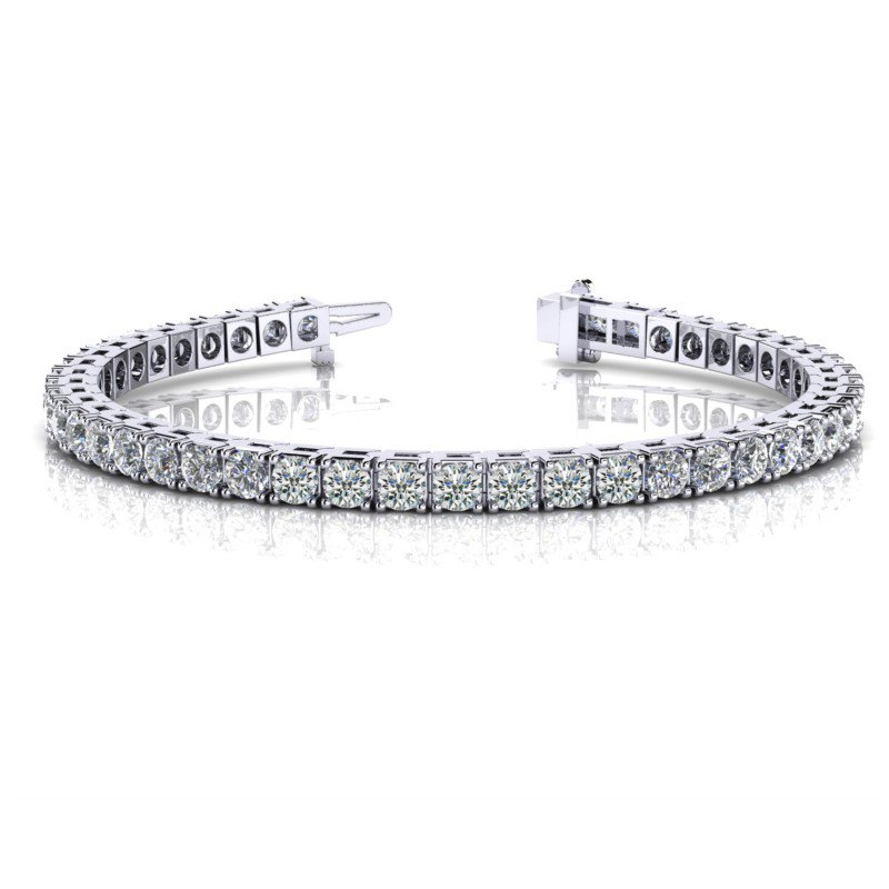 Amazing 7.19 carat White Gold Diamond Bracelet