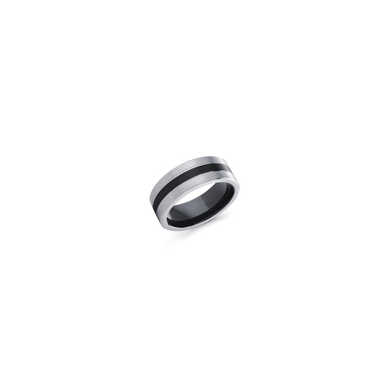 8 m.m. Cobalt Ring in Black and White