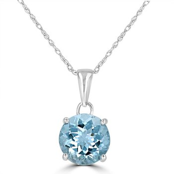 14 kt Cool Blue Aquamarine Pendant