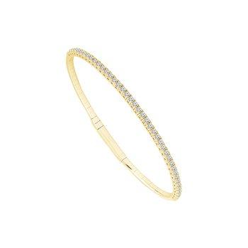 Yellow Gold Diamond Flex Bracelet