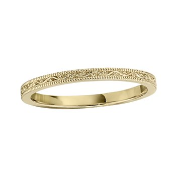 Yellow 14 Karat Band Size 6.5