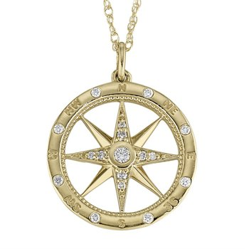 Find your Love with a Diamond Compass Pendant