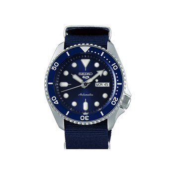 Blue Stainless Steel Seiko Automatic Watch