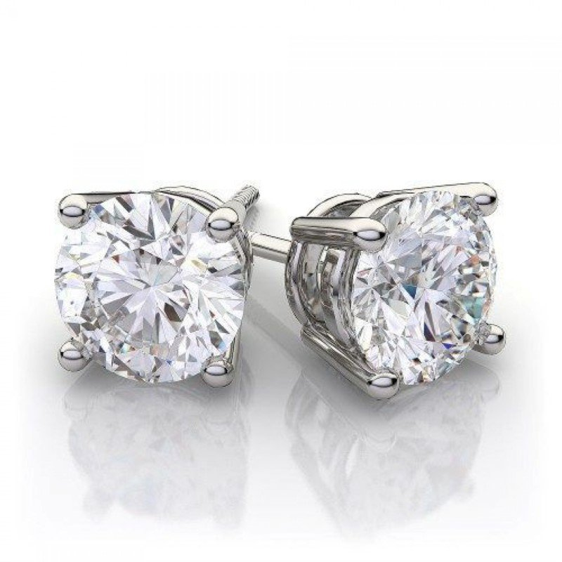 White Gold 1.07ctw Diamond Studs