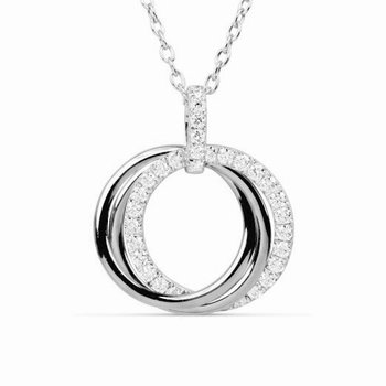 18 kt Double Swirl Diamond Pendant