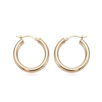 Yellow Gold Small Hoops