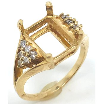 14kt Yellow Gold ring mounting