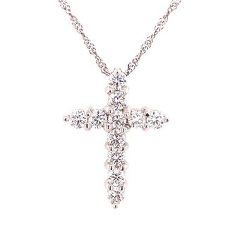 14 Karat Diamond Cross Pendant
