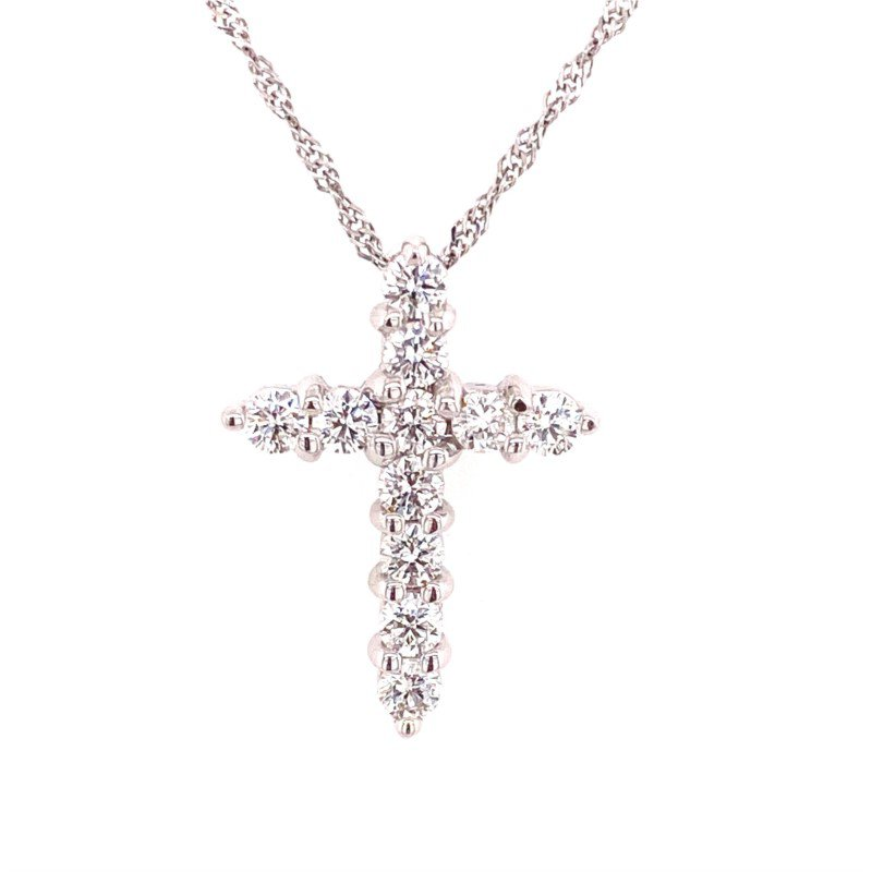 14 Karat Diamond Cross Pendant