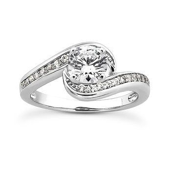 White 14 Karat Ring With 24 Round Diamonds=0.24Tw  G/H Si