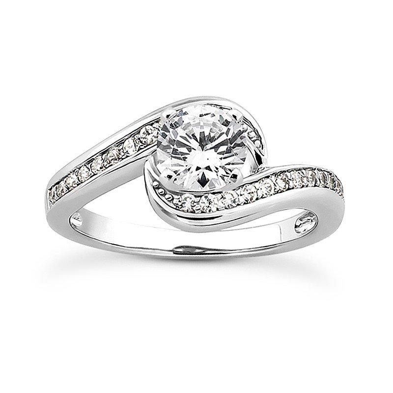 White 14 Karat Ring With 24 Round Diamonds=0.24Tw  G/H Si